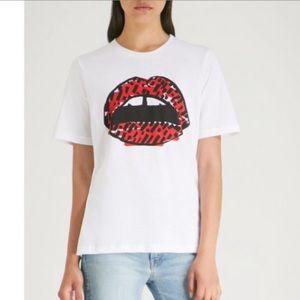 NWT Markus Lupfer Alex Lara Lip Cotton T-Shirt Tee